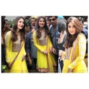 Bollywood Replica-Kareena Kapoor Designer Yellow Embroidered Georgette Anarkali Suit - TM-76