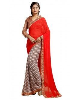 Casual Wear Multicolour Weightless Saree  - TM-245
