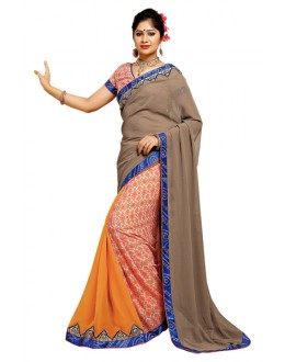 Casual Wear Multicolour Georgette Saree  - TM-185