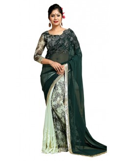 Party Wear Multicolour Georgette Saree  - TM-188