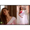 Bollywood Replica - Daisy Shah Designer Fancy White Party Wear Saree - TM-33 ( TM-3 )