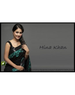 Bollywood Replica - Hina Khan Designer Fancy Black Embroidered Georgette Party Wear Saree - TM-59 ( TM-5 )