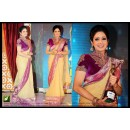 Bollywood Replica - Sri Devi Designer Cream Georgette Embroidered Party Wear Saree -TM-66 ( TM-6 )