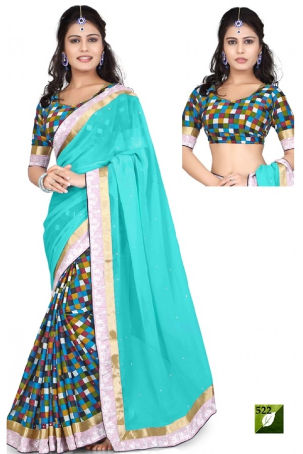 Bollywood Replica - Designer Multicolour Saree - TM-522