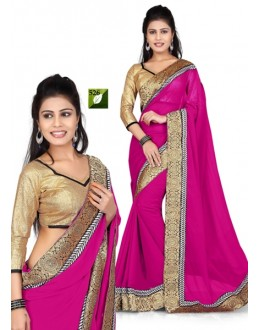 Bollywood Replica - Designer Pink & Beige Saree - TM-526