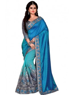 Festival Wear Multicolour Mono Net Saree  - TM-230