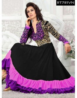 Eid Special Designer Embroidered Multi Color Anarkali Suit -BT781VN(ARTI -539)Karishma