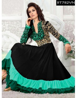 Eid Special Designer Embroidered Multi Color Anarkali Suit -BT782VN(ARTI -539)Karishma