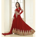 Dia Mirza In Georgette Anarkali Suit  - Aashirvad70005Maroon