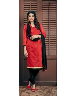 Designer Red & Black Salwar Suit - Amaya1003