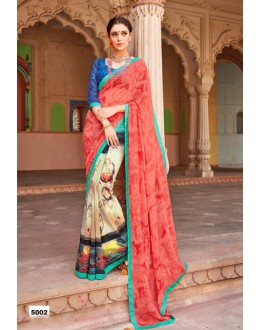 Casual Wear Multi-Colour Major Georgette Saree  - Anokhi5002