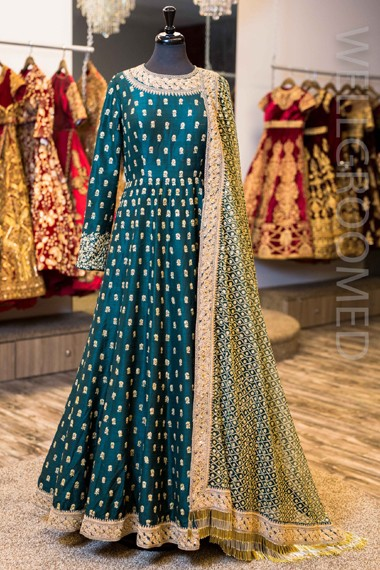 Bollywood Inspired - Festival Wear Banglori Silk  Anarkali Suit - Antara001