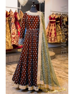 Bollywood Inspired - Designer Banglori Silk  Anarkali Suit - Antara003