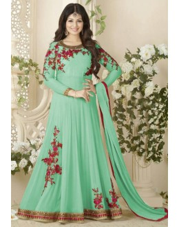 Ayesha Takia In Green Georgette Anarkali Suit  - Avon1005Green