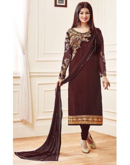 Ayesha Takia In Brown Georgette Salwar Suit  - AD2113Brown