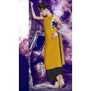 Ethnic Wear Readymade Yellow Kurti - BarkhaBD-14