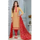 Party Wear Yellow Chanderi Cotton Salwar Suit  - DairyMilkVol12116