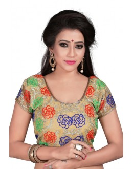 Designer Readymade Multicolour Cotton Blouse - Deepali2011