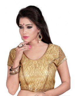 Ethnic Readymade Beige Cotton Blouse - Deepali2012