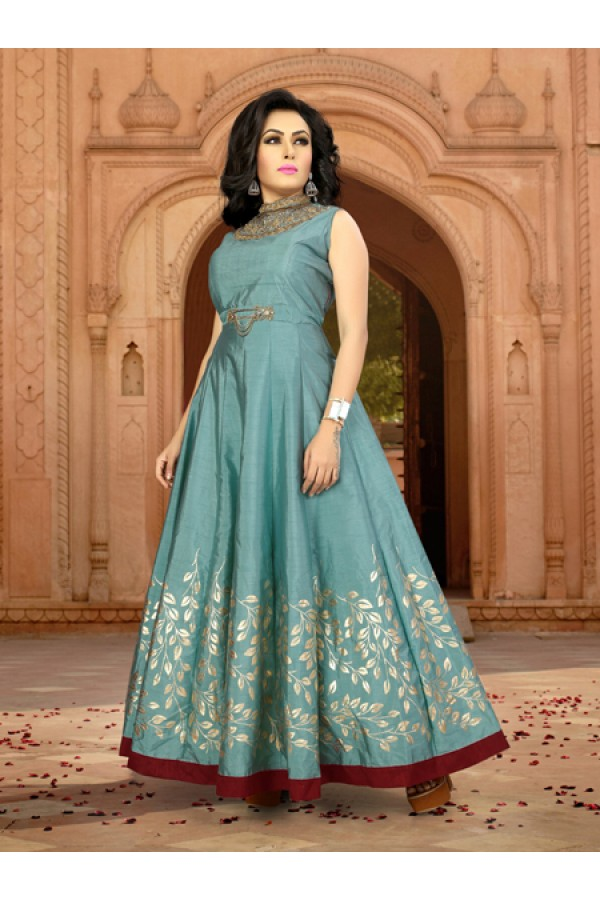 Festival Wear Ready-Made Banglori Gown - Diana1002