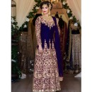 Bollywood Inspired - Party Wear Tafetta Silk  Anarkali Suit - DulhanBlue