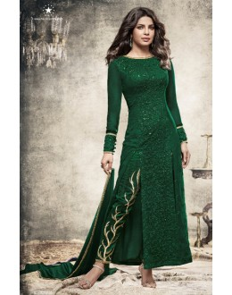 Priyanka Chopra In Green Slit Salwar Suit  - Heroine5149-B