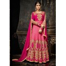 Wedding Wear Pink Embroidery Anarkali Suit  - 3993