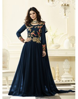 Party Wear Rama Georgette Anarkali Suit - Jashn-A