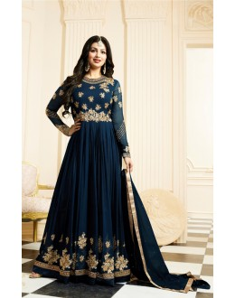 Wedding Wear Rama Banarasi Silk  Anarkali Suit - Jashn-E