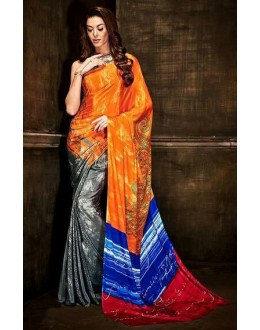 Casual Wear Multi-Colour Crepe Silk Saree  - Kaalina13001