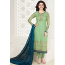 Ethnic Wear Green & Navy Blue Georgette Salwar Suit - Kashish4024