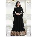 Party Wear Black Georgette Anarkali Suit - LT1204Black