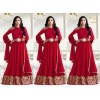 Wedding Wear Red Georgette Anarkali Suit - LT1204Red