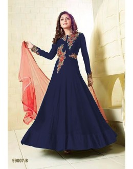 Festival Wear Blue Faux Georgette Anarkali Suit  - LT99007-B