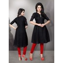 Readymade Cotton Red Kurti - LaskaraK218