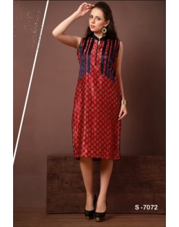 Readymade Red Georgette Kurti - Lopa7072