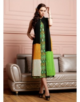Ethnic Wear Readymade Green Kurti - Lopa7075