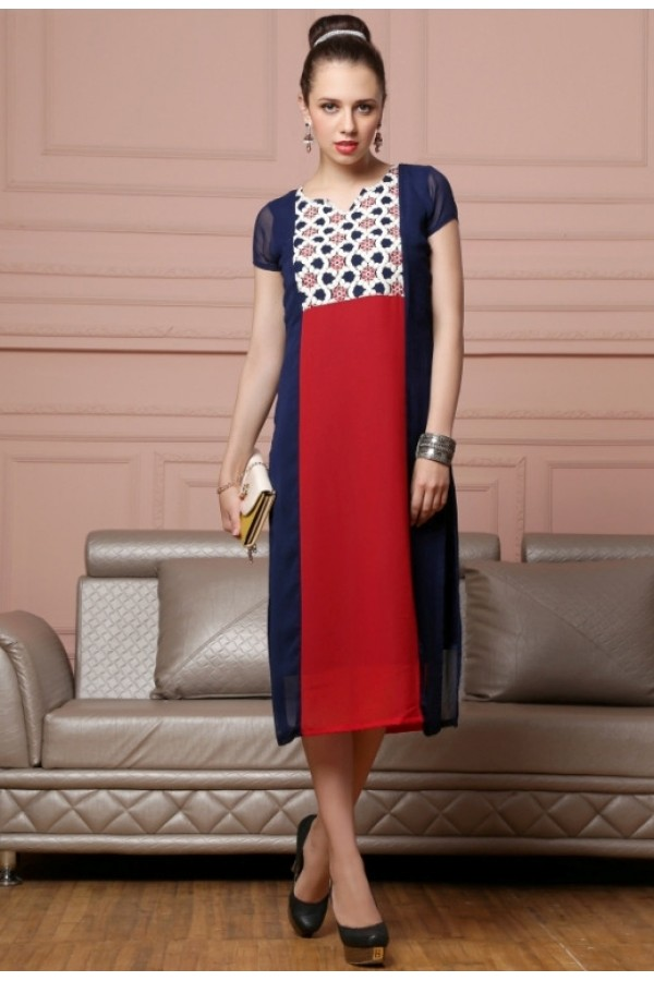 Office Wear Readymade Georgette Kurti - Lopa7077