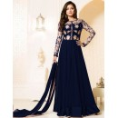 Festival Wear Blue Georgette Anarkali Suit  - MadhuBalaRF20285