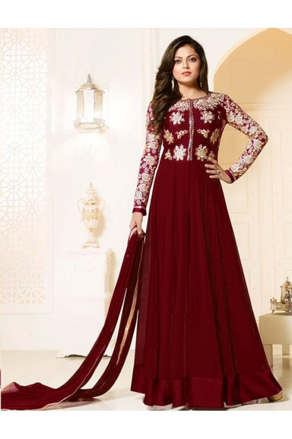 Festival Wear Red Georgette Anarkali Suit  - MadhuBalaRF20287