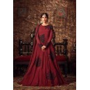 Casual Wear Maroon Georgette Anarkali Suit - Maisha4405-D