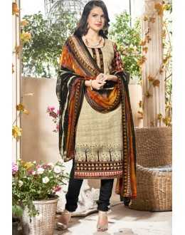 Festival Wear Black & White Cotton Salwar Suit  - Manjari13001