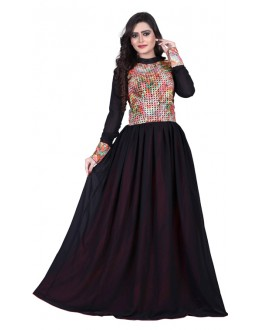 Party Wear Black Gown - MIRZA2019