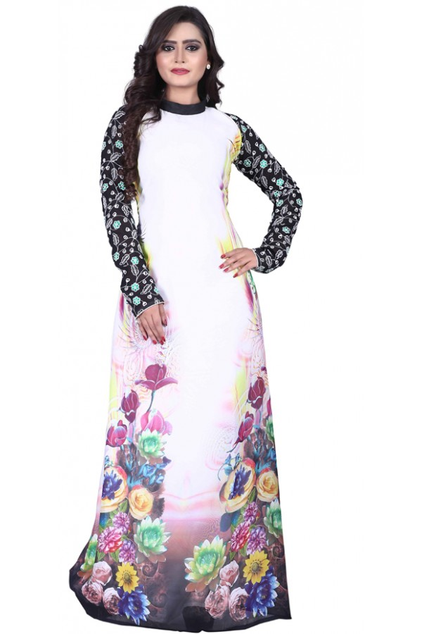 Party Wear Multicolour Georgette Gown - MIRZA2020
