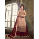 Festival Wear Peach Georgette Palazzo Suit - Mohini 31001Peach