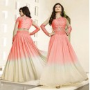 Designer Light Red Net Georgette Anarkali Suit - Nagma86004C
