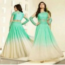 Ethnic Wear Light Green & Cream Anarkali Suit - Nagma86004D