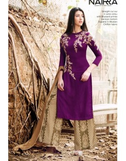 Festival Wear Purple Georgette Palazzo Suit - 1025 A