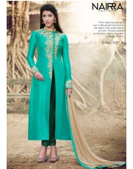 Festival Wear Sea Green Salwar Suit - 1027 A