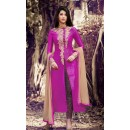 Party Wear Rani Silk Salwar Suit - 1027 B